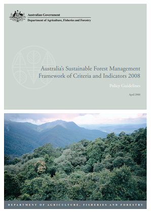 Cover of Australia's framework of criteria and indicators for forest reporting